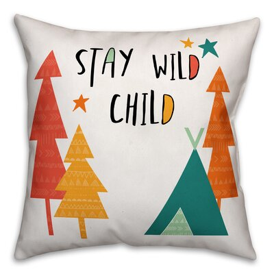 Inara Child Throw Pillow Color: Orange