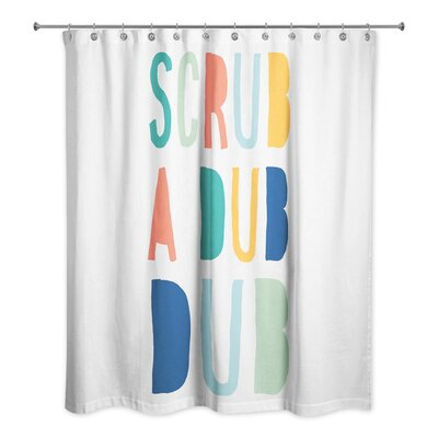 Tyrell Scrub a Dub Shower Curtain Color: Orange
