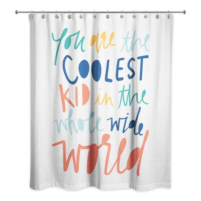 Saul Kid Shower Curtain Color: Orange