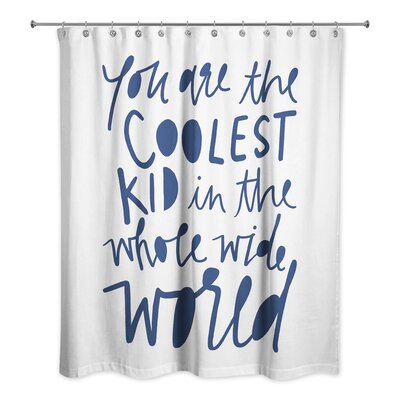 Saul Kid Shower Curtain Color: Blue