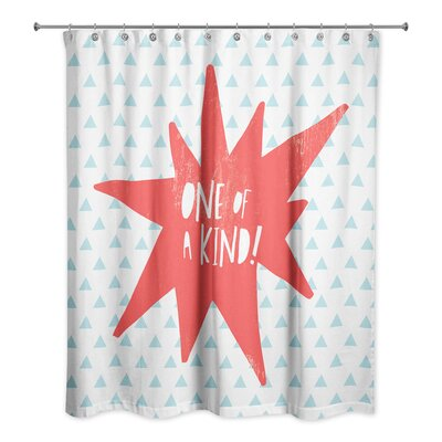 Kory One of a Kind Shower Curtain Color: Red
