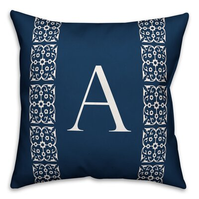 Bunnell Lace Initial Throw Pillow Letter: A
