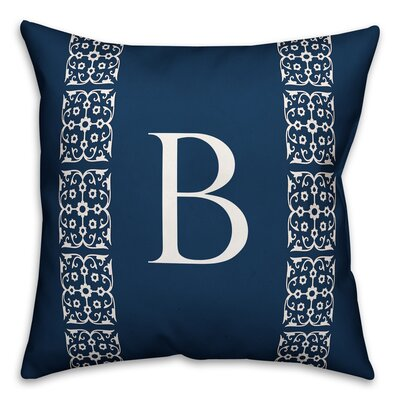 Bunnell Lace Initial Throw Pillow Letter: B