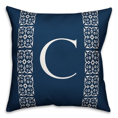 Bunnell Lace Initial Throw Pillow Letter: C