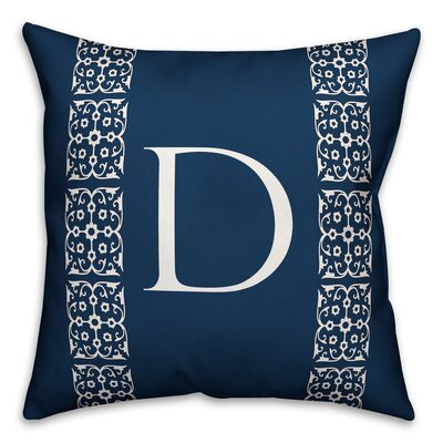 Bunnell Lace Initial Throw Pillow Letter: D