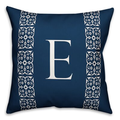 Bunnell Lace Initial Throw Pillow Letter: E
