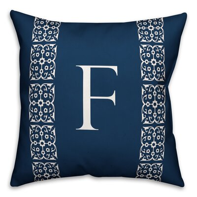Bunnell Lace Initial Throw Pillow Letter: F