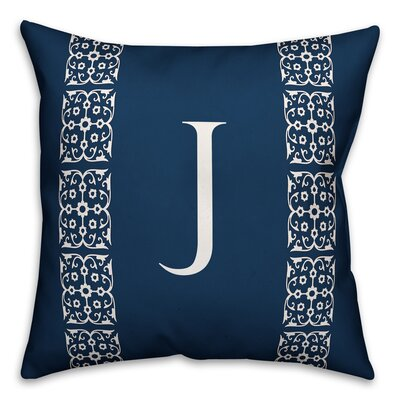 Bunnell Lace Initial Throw Pillow Letter: J