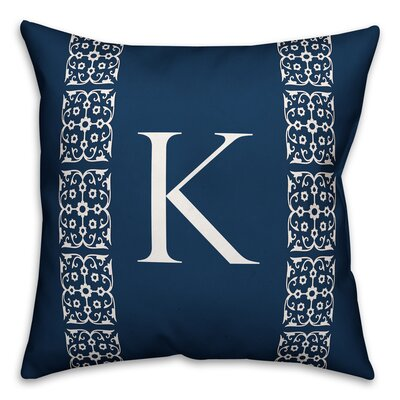 Bunnell Lace Initial Throw Pillow Letter: K