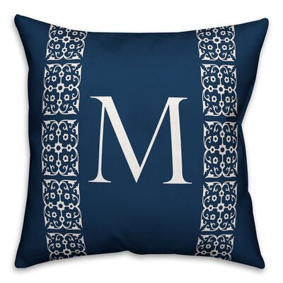 Bunnell Lace Initial Throw Pillow Letter: M