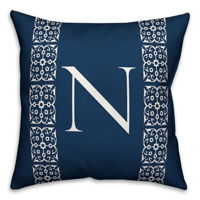 Bunnell Lace Initial Throw Pillow Letter: N