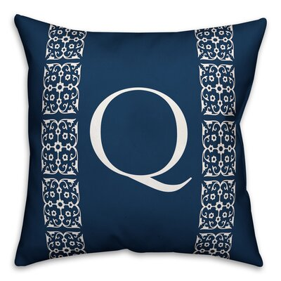 Bunnell Lace Initial Throw Pillow Letter: Q