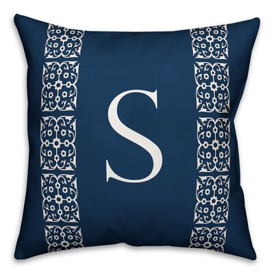 Bunnell Lace Initial Throw Pillow Letter: S