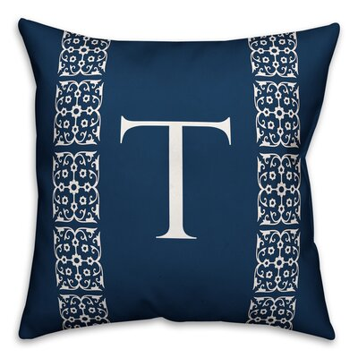 Bunnell Lace Initial Throw Pillow Letter: T