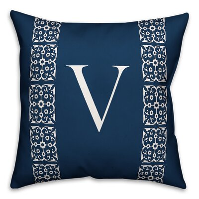 Bunnell Lace Initial Throw Pillow Letter: V