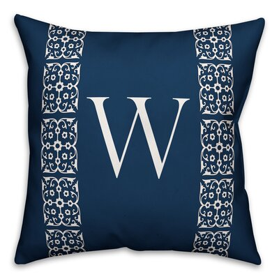 Bunnell Lace Initial Throw Pillow Letter: W