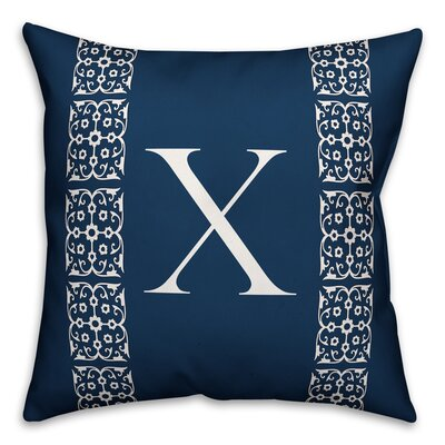 Bunnell Lace Initial Throw Pillow Letter: X