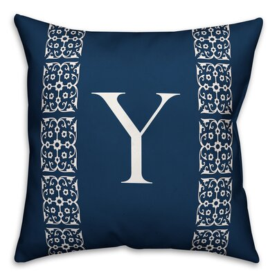 Bunnell Lace Initial Throw Pillow Letter: Y