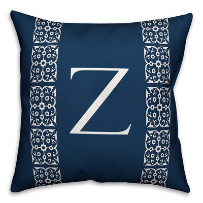 Bunnell Lace Initial Throw Pillow Letter: Z