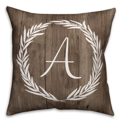 Brompton Wreath Initial Throw Pillow Letter: A