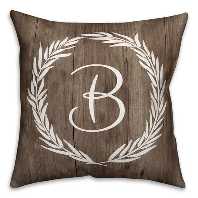 Brompton Wreath Initial Throw Pillow Letter: B