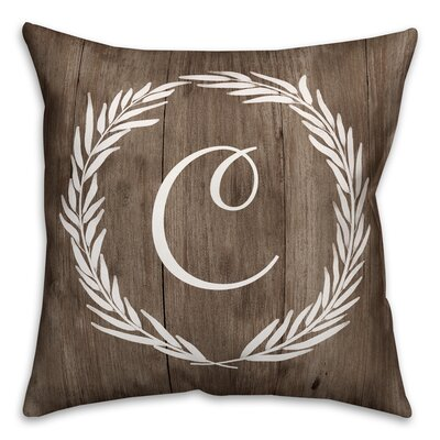 Brompton Wreath Initial Throw Pillow Letter: C