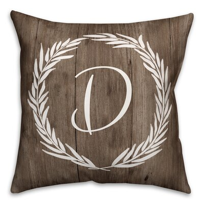 Brompton Wreath Initial Throw Pillow Letter: D