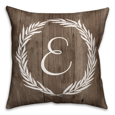 Brompton Wreath Initial Throw Pillow Letter: E