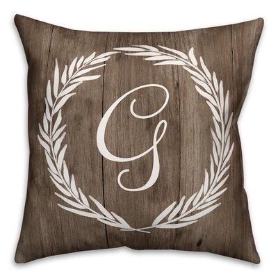 Brompton Wreath Initial Throw Pillow Letter: G