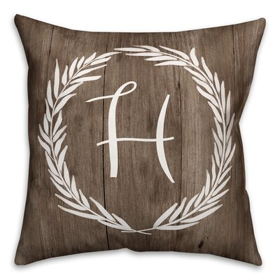 Brompton Wreath Initial Throw Pillow Letter: H