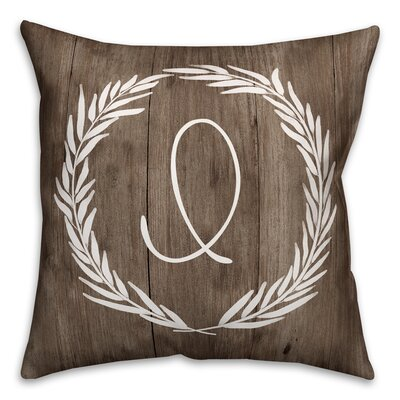 Brompton Wreath Initial Throw Pillow Letter: I