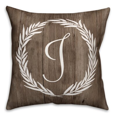Brompton Wreath Initial Throw Pillow Letter: J