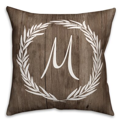 Brompton Wreath Initial Throw Pillow Letter: M