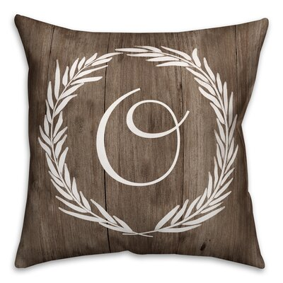 Brompton Wreath Initial Throw Pillow Letter: O