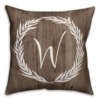Brompton Wreath Initial Throw Pillow Letter: W