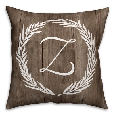 Brompton Wreath Initial Throw Pillow Letter: Z