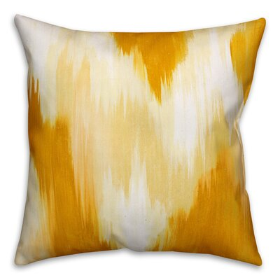 Lansdale Ikat Throw Pillow Color: Yellow, Size: 20 x 20, Type: Pillow Cover