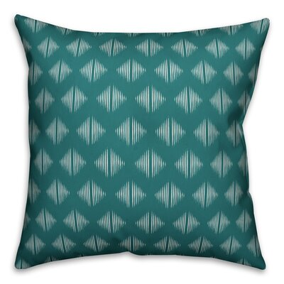 Revere Abstract Throw Pillow Color: Teal White, Size: 20 x 20, Type: Pillow Cover