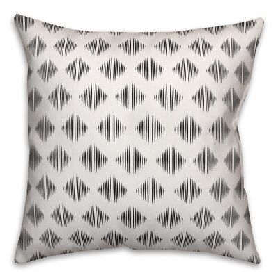 Revere Abstract Throw Pillow Color: White, Size: 20 x 20, Type: Pillow Cover