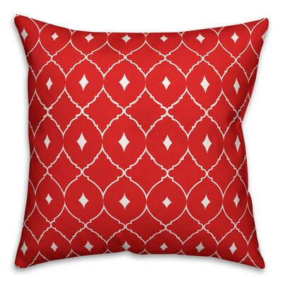Cedric Diamond Throw Pillow Color: Coral Teal, Size: 18 x 18, Type: Lumbar Pillow
