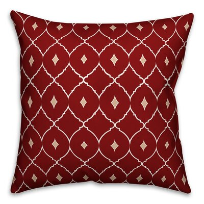 Cedric Diamond Throw Pillow Color: Red Teal, Size: 18 x 18, Type: Pillow Cover