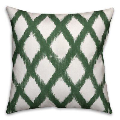 Worden Diamond Throw Pillow Color: Green, Size: 20 x 20, Type: Pillow Cover