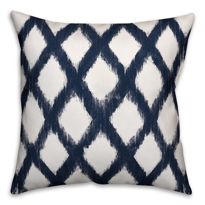 Worden Diamond Throw Pillow Color: Navy, Size: 16 x 16, Type: Pillow Cover