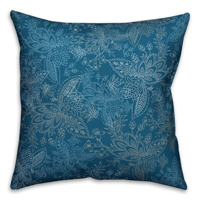 Kepner Paisley Throw Pillow Color: Teal Green, Size: 18 x 18, Type: Pillow Cover
