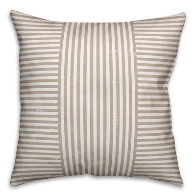 Castelvecchio Stripes Throw Pillow Color: Beige, Size: 16 x 16, Type: Pillow Cover