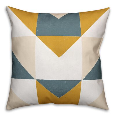 Laursen Geometric Abstract Throw Pillow Size: 16 x 16, Type: Lumbar Pillow