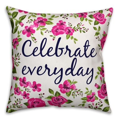 Tilton Celebrate Everyday Floral Throw Pillow Color: White, Size: 18 x 18, Type: Pillow Cover