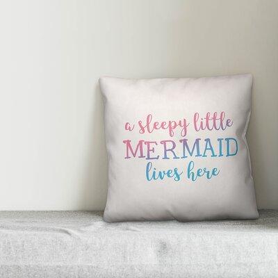 Jarret Sleepy Little Mermaid Throw Pillow