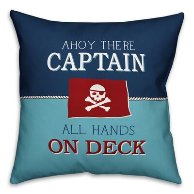Joe All Hands on Deck Throw Pillow