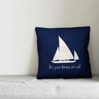Kacie Dreams Set Sail Throw Pillow